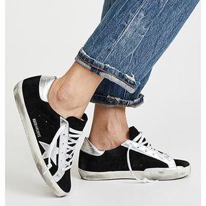 Golden Goose SuperStar Sneakers Black/Silver